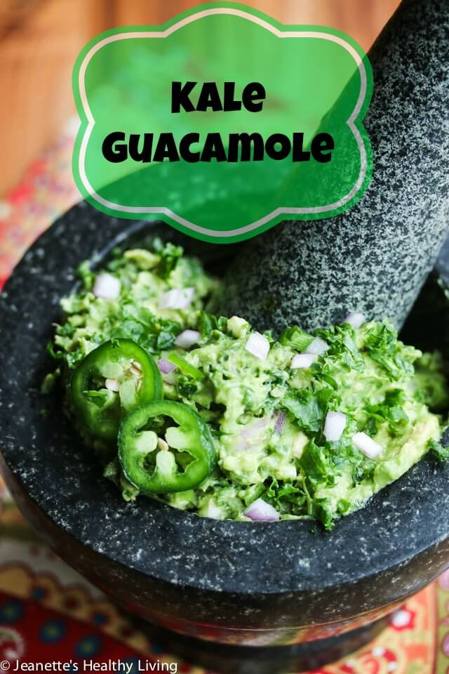 Kale Guacamole - a healthy and easy recipe, perfect for Super Bowl!