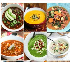 12 Healthy Hearty Soups - a beautiful collection of healthy soups to warm your soul