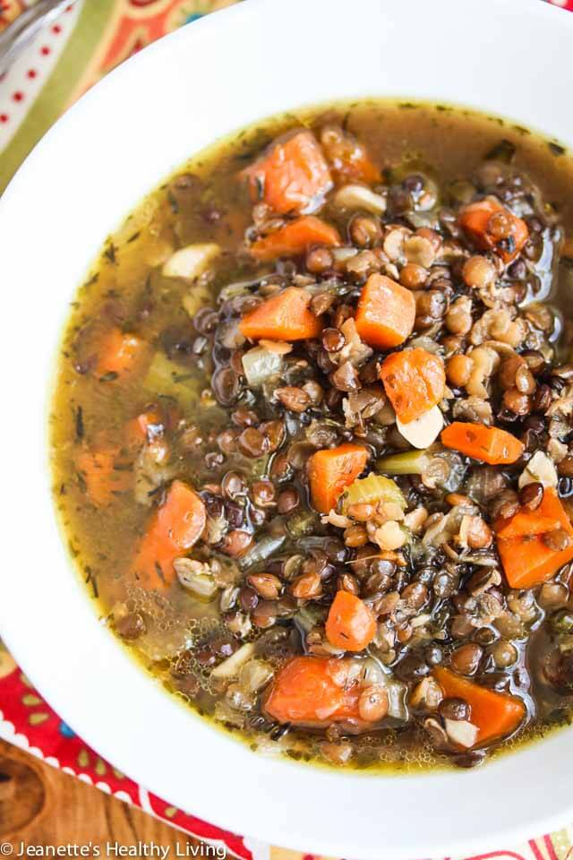 Slow Cooker Lentil Smoked Ham Soup - made with mineral rich chicken ...