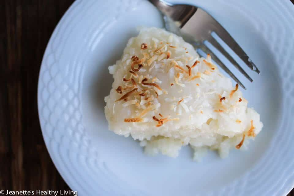 Mom's Coconut Sticky Rice Cake - this is a recipe handed down to me by my mom - it's like rice pudding and is perfect for celebrating Chinese New Year