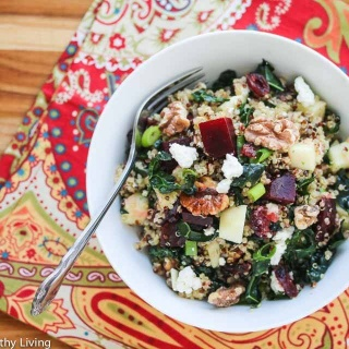 Quinoa Beet Kale Apple Walnut Goat Cheese Salad Recipe