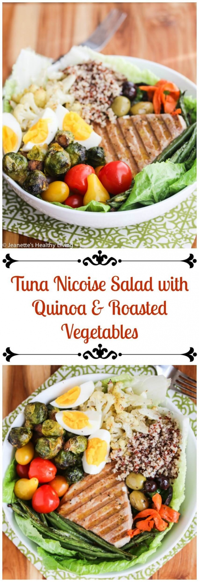 Winter Tuna Nicoise Salad with Quinoa and Roasted Vegetables - This ...