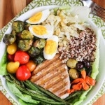 Winter Tuna Nicoise Salad with Quinoa and Roasted Vegetables - This one bowl meal is packed with protein and a rainbow of vegetables, served with a simple lemon vinaigrette