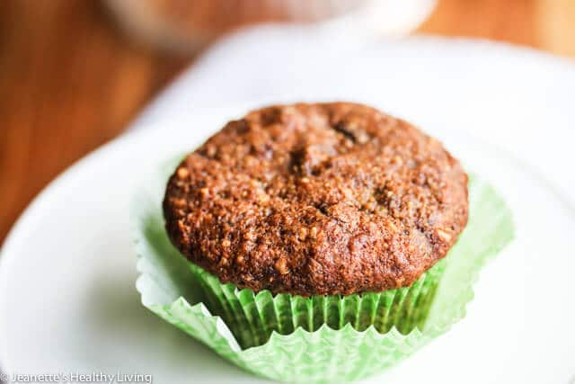 Banana Chocolate Chip Oat Flaxseed Almond Muffins Recipe - Jeanette's ...
