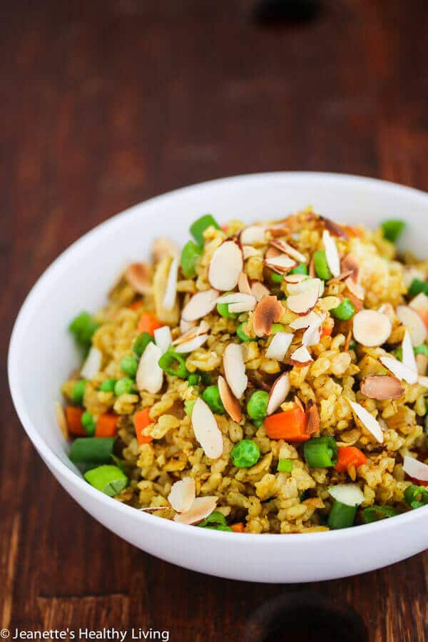 Chicken curry fried rice recipe jeanettes healthy living chicken curry fried rice a quick easy and healthy one pan dinner made ccuart Images