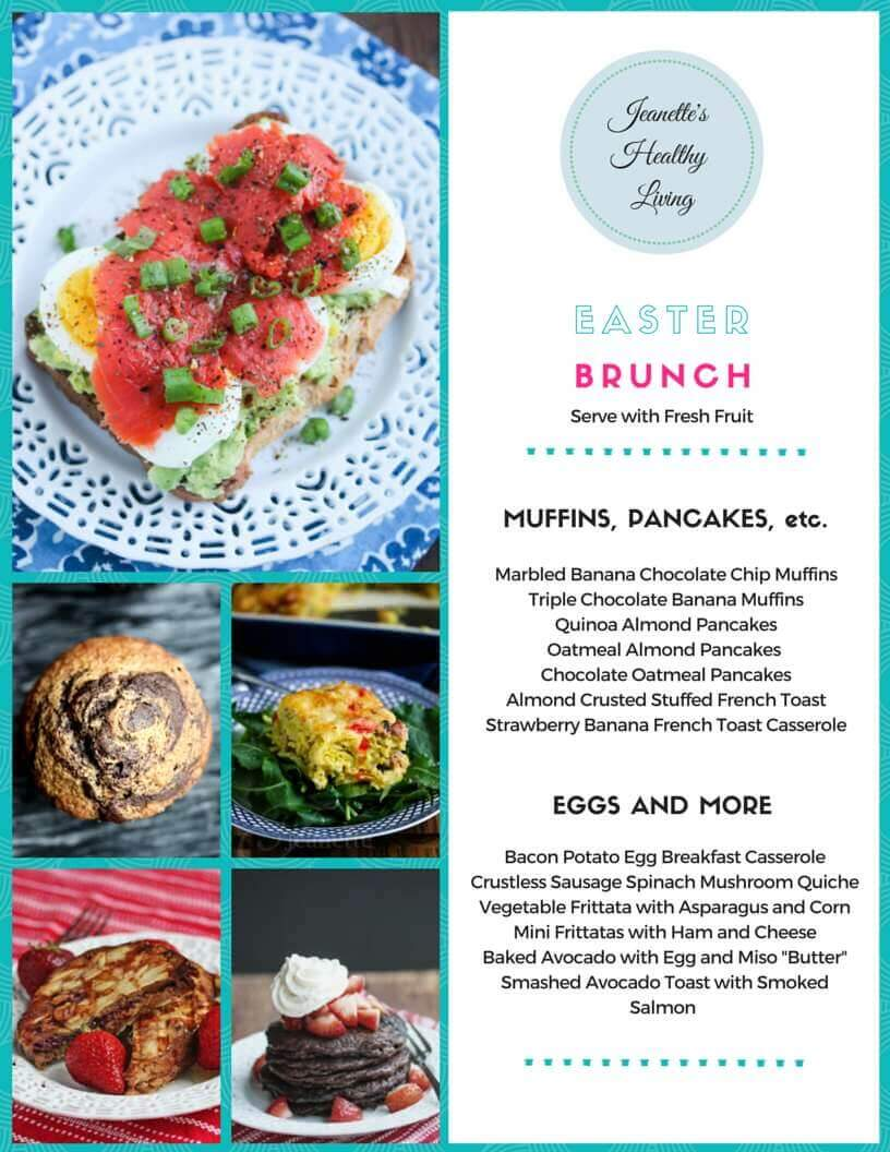 Gluten free easter brunch menu jeanettes healthy living gluten free easter brunch menu muffins pancakes quiche frittatas and more negle Image collections