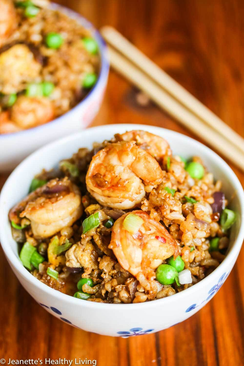 Indonesian Shrimp Fried Brown Rice - this healthy dish is so flavorful - you have to try this!