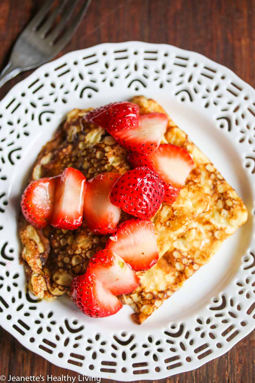 Gluten-Free Swedish Pancakes with Fresh Strawberries