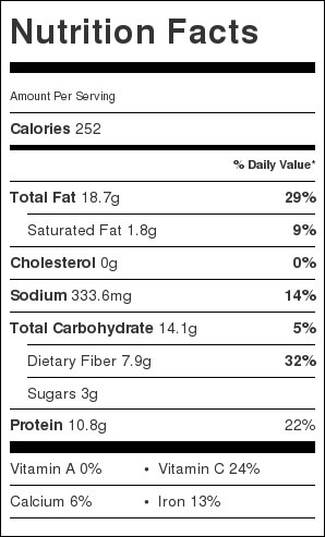 Edamame Avocado Miso Hummus Nutrition Facts