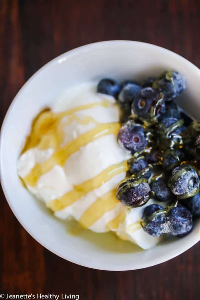 SCD GAPS Diet Yogurt with Blueberries and Honey