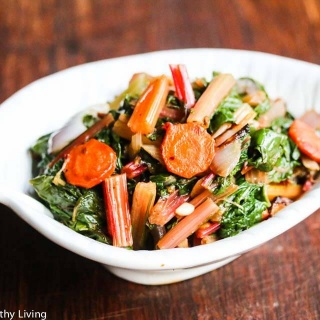 Sauteed Swiss Chard with Carrots and Celery Recipe