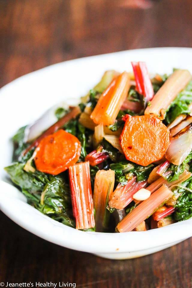 Sauteed Swiss Chard with Carrots and Celery - a simple and delicious way to prepare Swiss chard