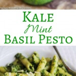 Kale Mint Basil Pesto - a summer pesto that's healthy and delicious ~ toss with pasta (hot or cold), add a few spoonfuls to potato salad, or use it on sandwiches and pizza