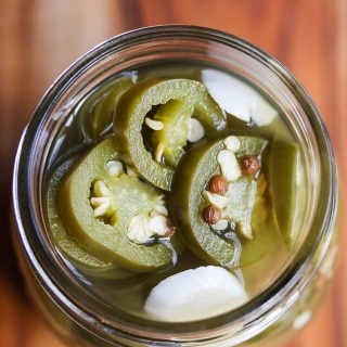 Pickled Jalapeño Peppers with Coriander and Garlic Recipe