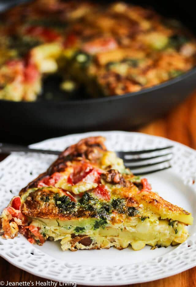 Tomato Corn Potato Sausage Pesto Frittata Recipe ...