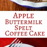 Apple Buttermilk Spelt Coffee Cake - serve this warm for breakfast or as a snack - it's the ultimate essence of Fall