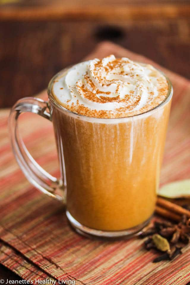 skinny pumpkin chai latte recipe jeanette 39 s healthy living. Black Bedroom Furniture Sets. Home Design Ideas