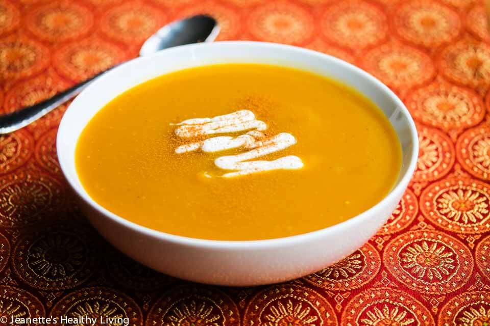 Sweet Spiced Roasted Butternut Squash Soup Recipe {Vegan} - Jeanette's ...