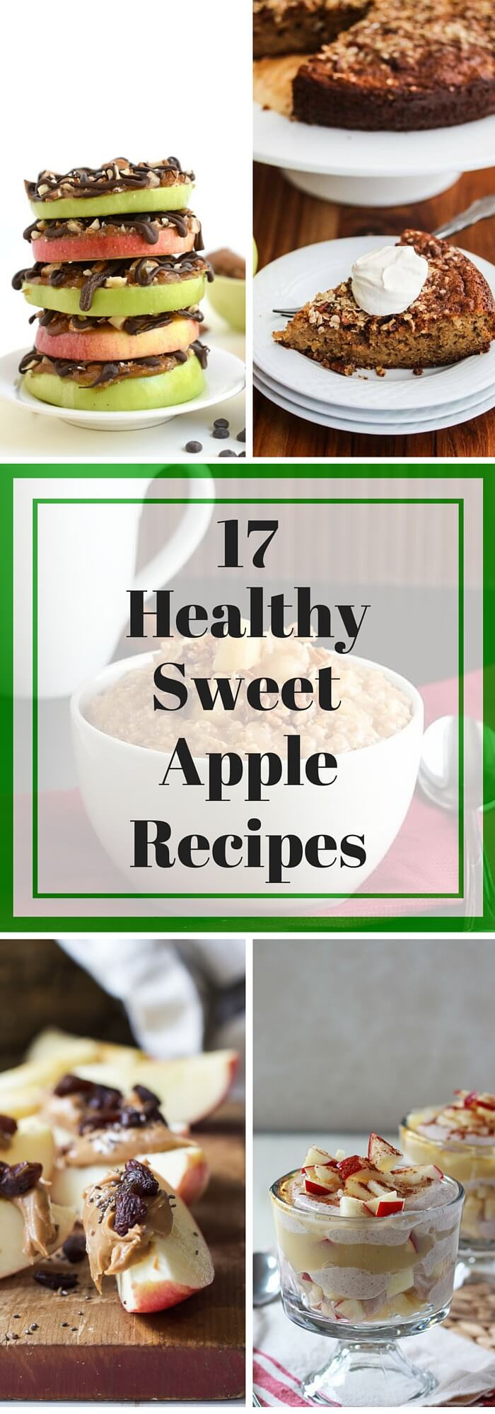 17 Healthy Sweet Apple Recipes - apples are in season so enjoy them in all these healthy apple breakfast, snack and dessert recipes!
