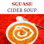 Roasted Butternut Squash Cider Soup - this sweet spiced butternut squash soup is perfect for Thanksgiving and the rest of the holiday season