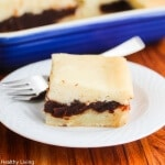 My Mom's Chinese Baked Sticky Rice Red Bean Paste Cake - celebrate Chinese New Year with this sticky rice cake that includes a sweet red bean paste filling