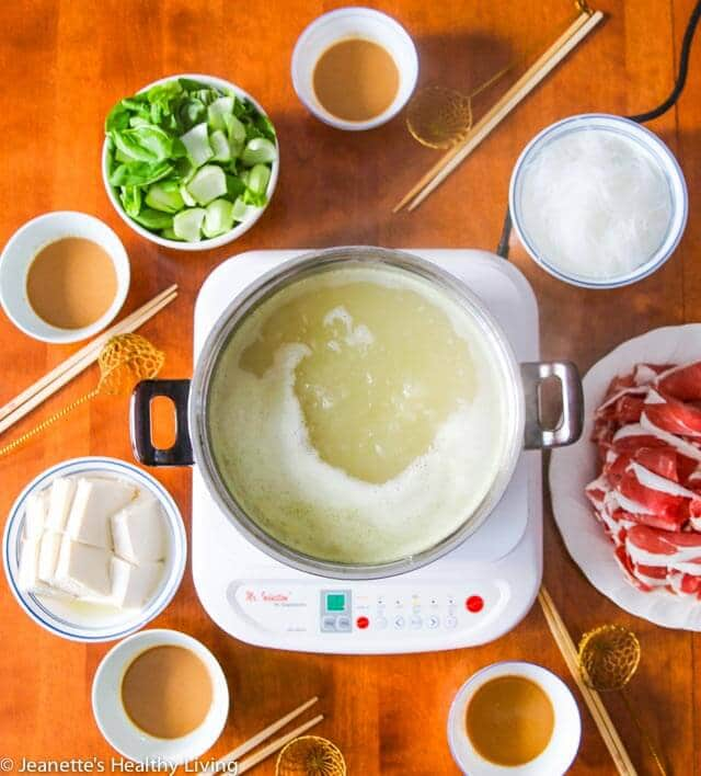 Chinese Mongolian Hot Pot - celebrate Chinese New Year with this one pot dinner. It's like fondue with a special dipping sauce