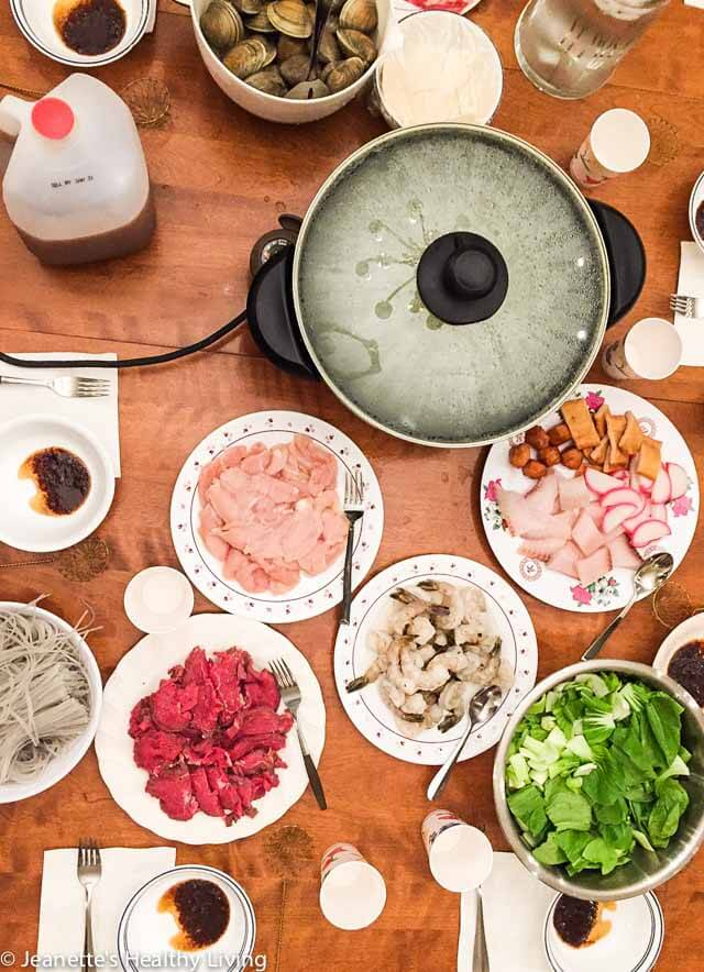 Chinese Hot Pot - the perfect one pot celebratory dinner for a large crowd