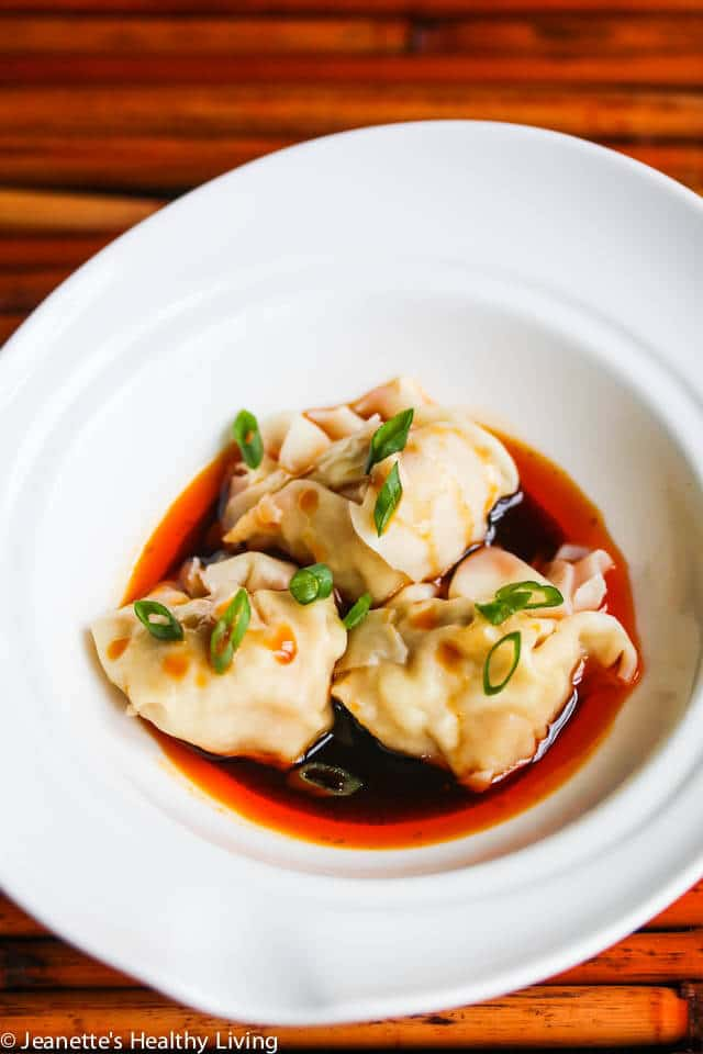 Szechuan Red Chili Oil Wonton Sauce - this sauce tastes just like the one I have at my favorite Chinese restaurant