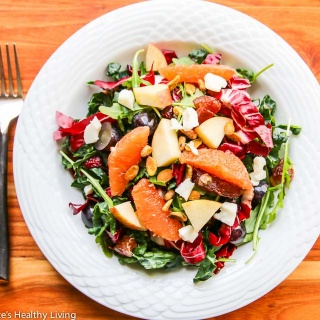 This Winter Kale Arugula Radicchio Orange Salad will brighten up your menu during the cold months of winter