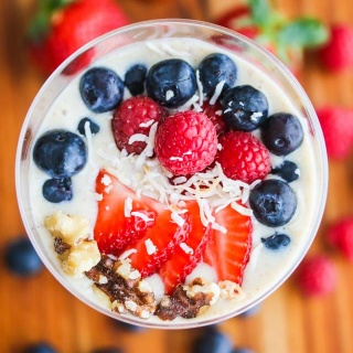 Banana Berry Flaxseed Smoothie Bowl Recipe #TasteTheGoodness