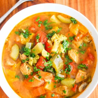 Vegetable Lentil Chicken Sausage Soup Recipe {Daniel Plan Recipe}