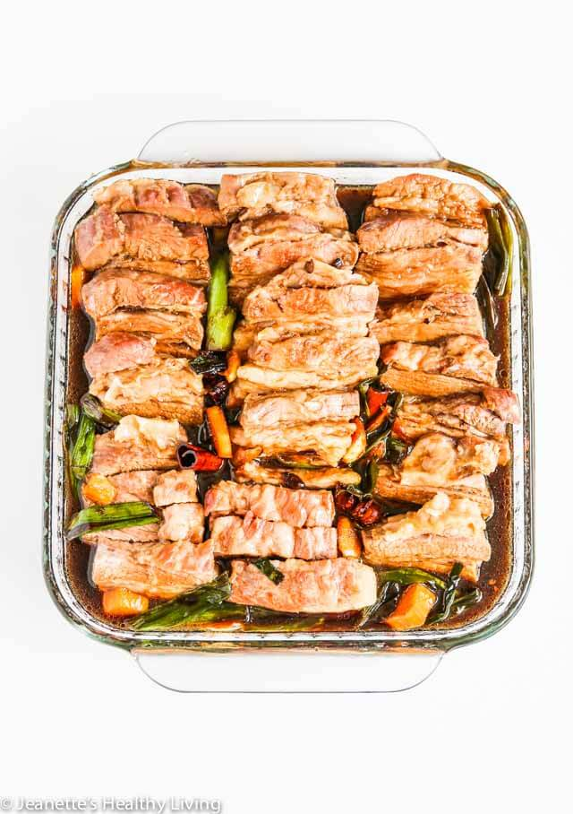 Chinese Five Spice Pork Belly - I make this for special occasions and it always receives rave reviews. Serve with steamed Chinese buns, hoisin sauce and sliced cucumbers for an appetizer ~ http://jeanetteshealthyliving.com