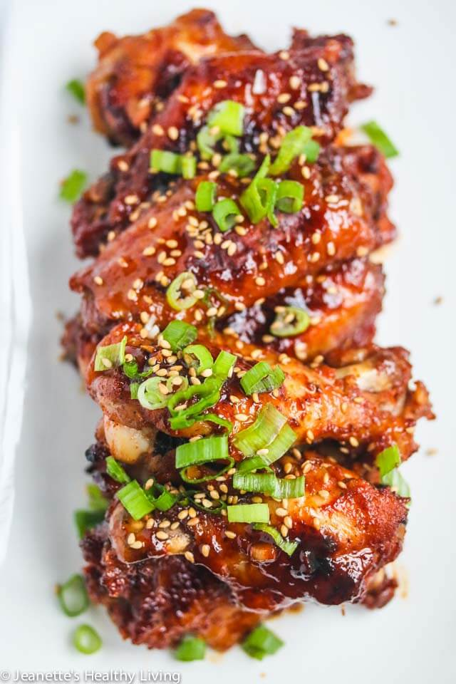 Baked Korean Gochujang Chicken Wings Jeanette S Healthy Living