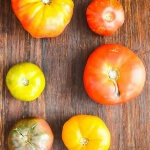 Heirloom Tomato Salad - this simple salad features fresh heirloom tomatoes at their peak in a sherry vinegar dressing