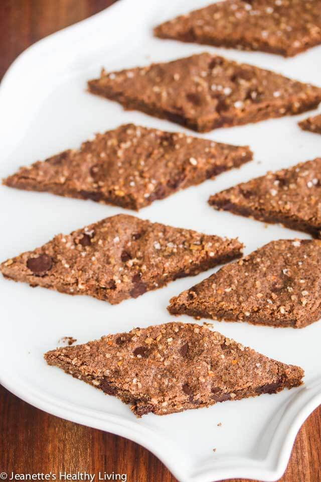 Double-Buckwheat Double-Chocolate Cookies = these are made with two kinds of buckwheat and two kinds of chocolate, perfect with a cup of milk, tea or coffee