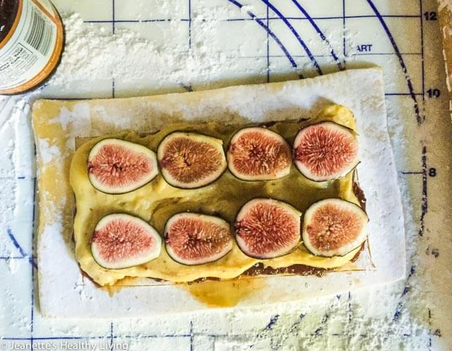 Gluten Free Fig Frangipane Tart - made with gluten free puff pastry, this elegant tart features fresh figs, frangipane and pistachios