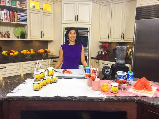 Jeanette Chen's first live TV cooking segment debut on WTNH, an ABC-affiliated television station