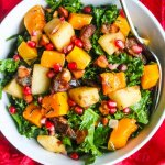 Butternut Squash Apple Kale Salad - this Fall harvest salad is delicious and packed with nutritious ingredients