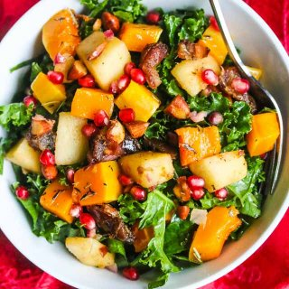 Butternut Squash Apple Kale Salad Recipe