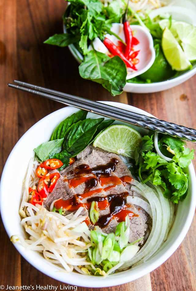 Vietnamese Beef Pho Noodle Soup Recipe - Jeanette's Healthy Living