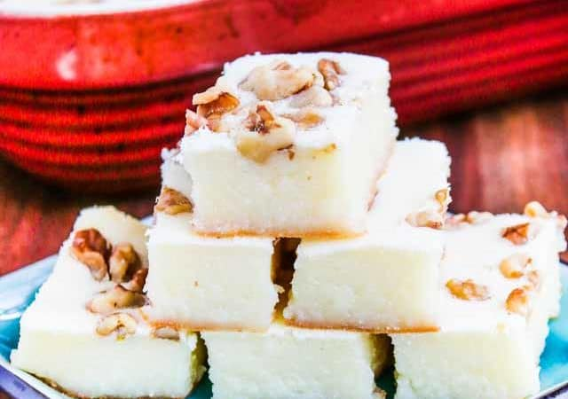 Baked Coconut Sweet Rice Walnut Cake - this Chinese sticky rice cake is easy to make, not too sweet and perfect for Chinese New Year