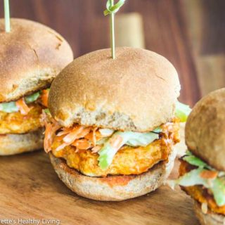 Buffalo Chicken Burgers With Celery Carrot Slaw Recipe