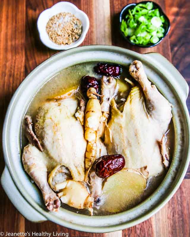 Korean Ginseng Chicken Soup - a nourishing, rejuvenating chicken soup made with Korean ginseng