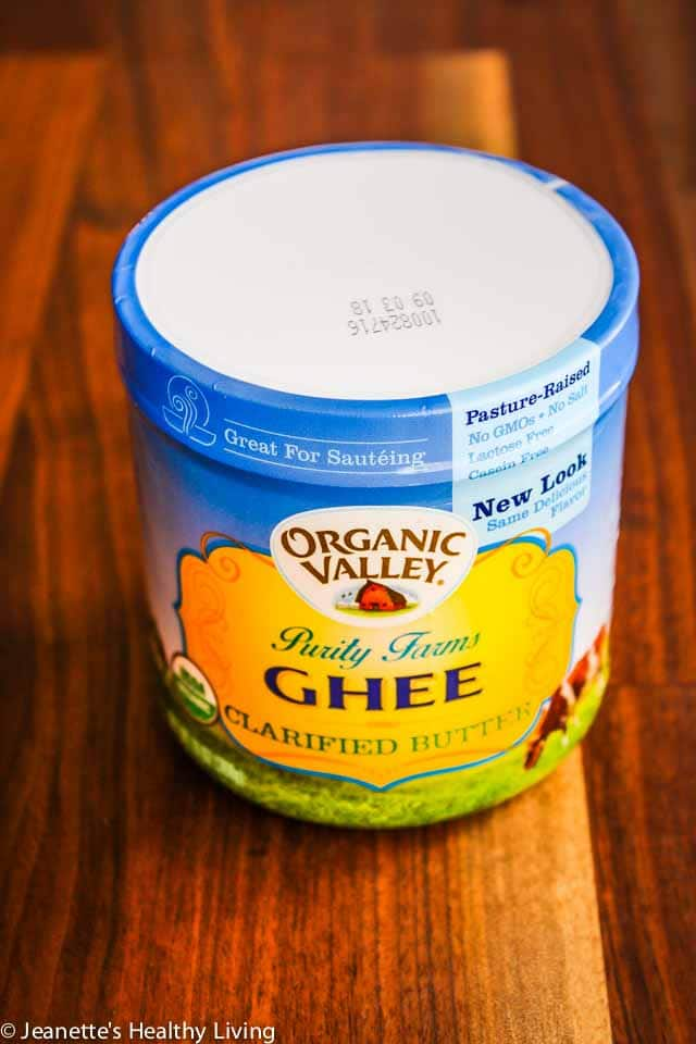 Cancer Cooking Ingredients - organic ghee