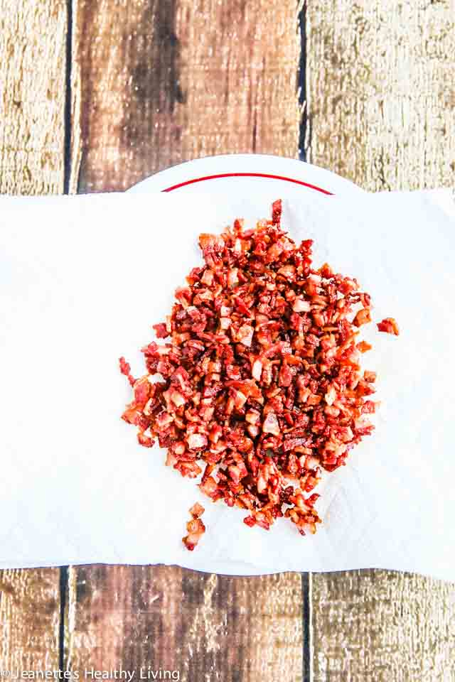 Homemade Turkey Bacon Bits - so easy to make and healthier than regular bacon bits