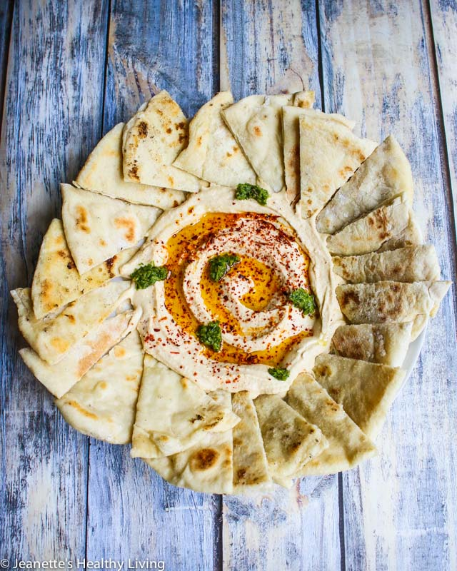 Israeli Hummus, Pita Bread and Schug - three foods I enjoyed during my trip to Israel