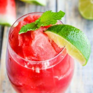 Watermelon Lime Slushie Recipe