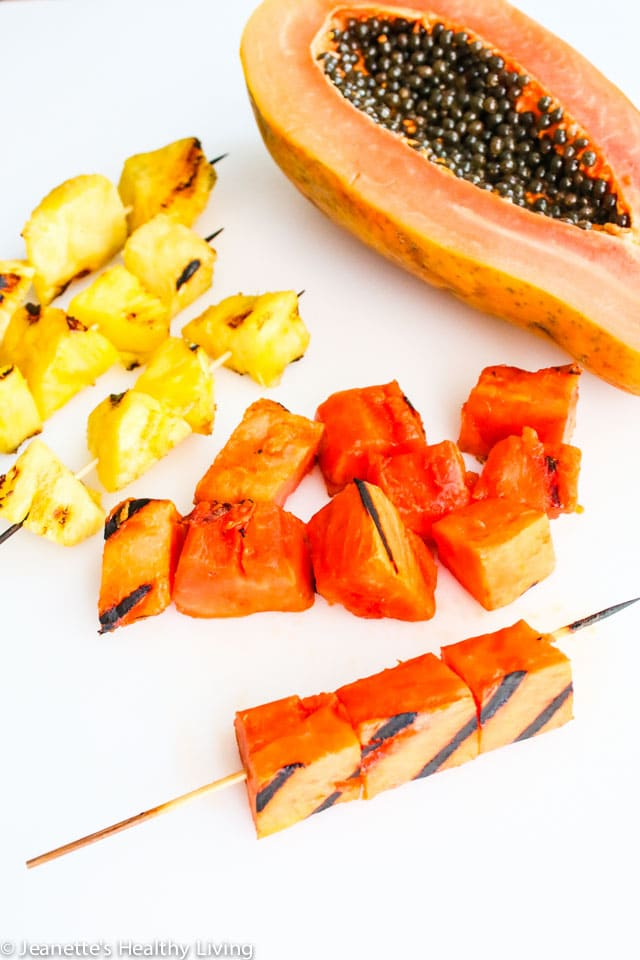 Grilled papaya pineapple salsa recipe jeanette 39 s healthy for Fruit salsa for fish