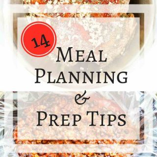 Meal Planning Tips - 14 tips on how to get dinner on the table easier and with less stress