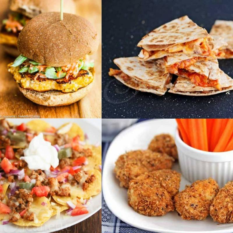 Healthy Football Snacks Finger Foods - a collection of 50+ healthy football snacks for game day